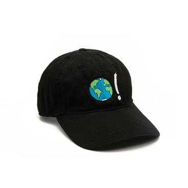 Baseball Cap - Black with Earth Symbol in Multi