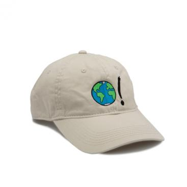 Baseball Cap - Stone with Earth Symbol in Multi