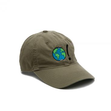 Baseball Cap - Olive with Earth Symbol in Multi