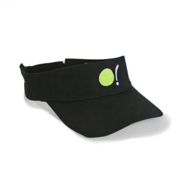 Visor - Black with Tennis Ball in Neon Yellow
