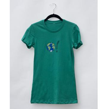 Women's Classic Tee - Kelly Green with Earth