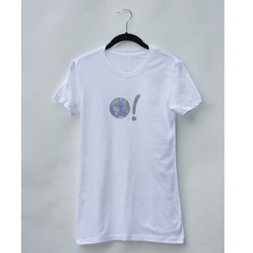 Women's Classic Tee - White with Earth Symbol