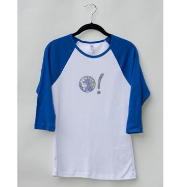 Baseball Tee - White/Royal Blue with Earth