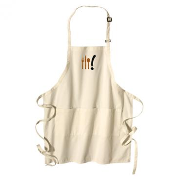 Apron with Food Symbol in Copper